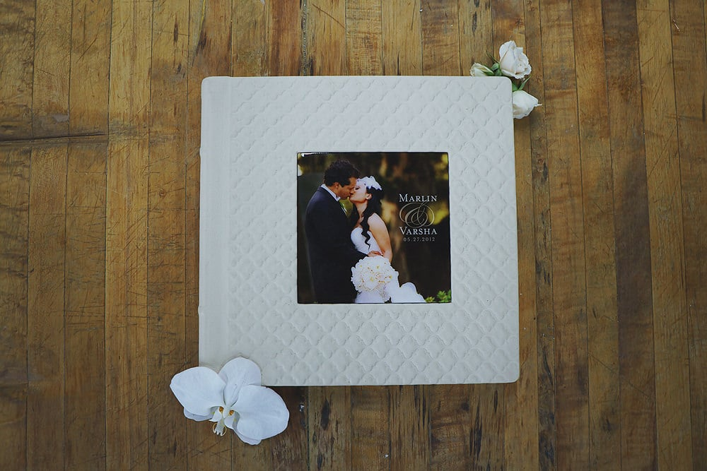 Pillow Embossed Leather Album in Ivory